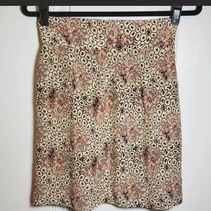 Isabel Marant mixed print pleated mini skirt